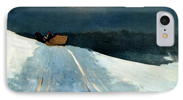 IPhone Case featuring the painting Sleigh Ride by Winslow Homer