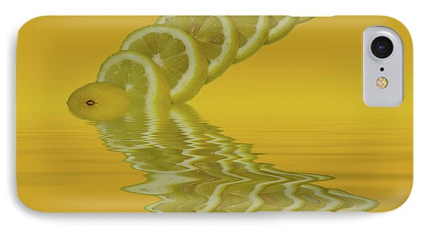IPhone Case featuring the photograph Slices Lemon Citrus Fruit by David French
