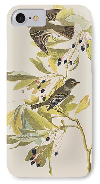 Small Green Crested Flycatcher IPhone Case by John James Audubon