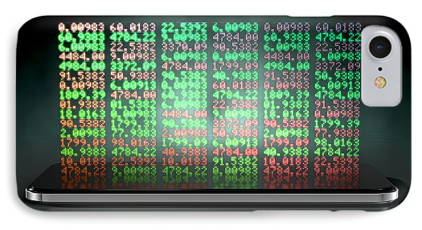 Smart Phone Stock App IPhone Case by Allan Swart