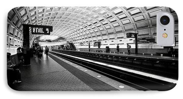 smithsonian metro underground train system Washington DC USA IPhone Case
