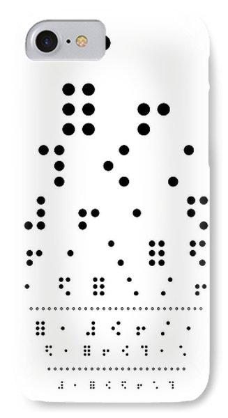 Snellen Chart - Braille Phone Case by Martin Krzywinski