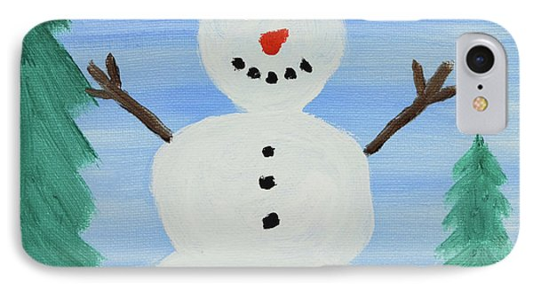Snowman IPhone Case by Anthony LaRocca