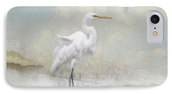 Snowy Egret IPhone Case by Karen Lynch