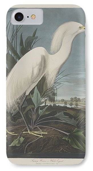 Ibis iPhone 7 Case - Snowy Heron Or White Egret by Dreyer Wildlife Print Collections