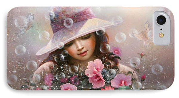 Soap Bubble Girl - Rose Sharon Of Song IPhone Case