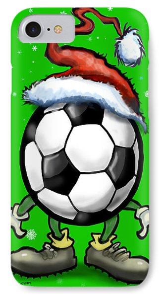 Soccer Christmas Phone Case by Kevin Middleton