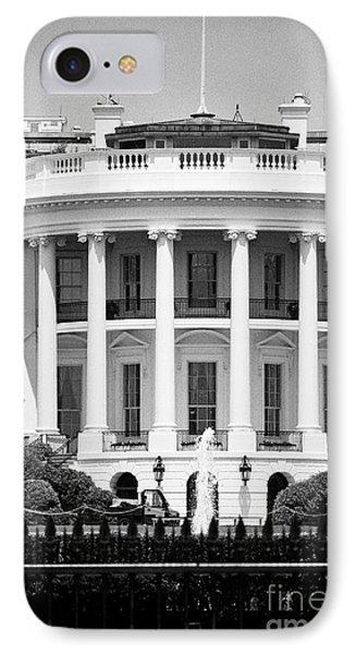 south facade of the white house Washington DC USA IPhone 7 Case by Joe Fox