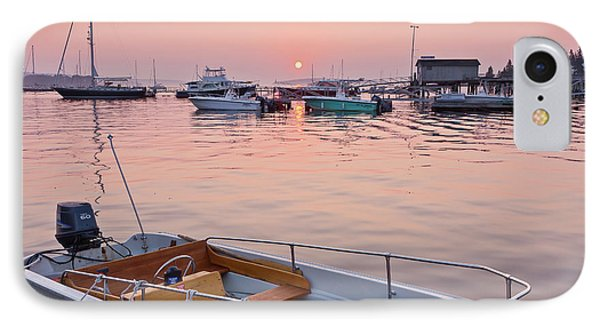 IPhone Case featuring the photograph Southwest Harbor Sunrise by Susan Cole Kelly