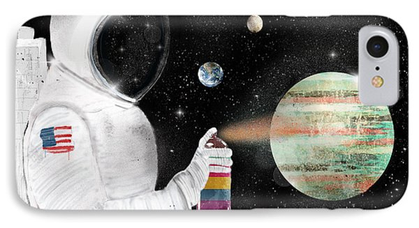 Space Graffiti IPhone Case by Bri B