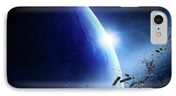 Space Junk Orbiting Earth IPhone Case