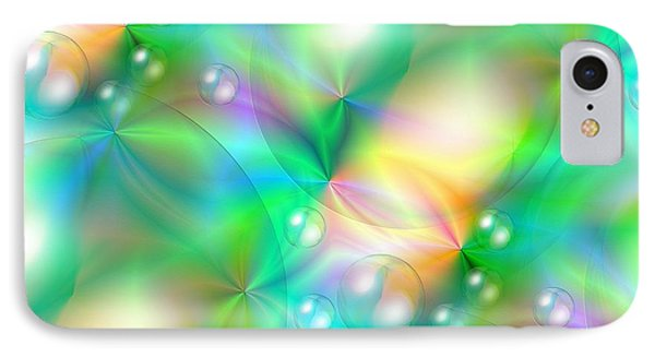 Spectrum Lights Balls And Bubbles Series I IPhone Case by J McCombie