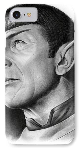 Spock IPhone Case by Greg Joens