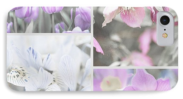 IPhone Case featuring the photograph Spring Flower Collage. Shabby Chic Collection by Jenny Rainbow