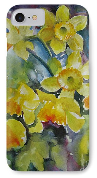 IPhone Case featuring the painting Spring Flowers by Elena Oleniuc