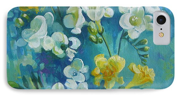 IPhone Case featuring the painting Spring Fragrances by Elena Oleniuc