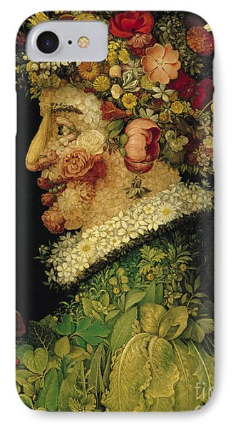 Raspberry iPhone 7 Case - Spring by Giuseppe Arcimboldo