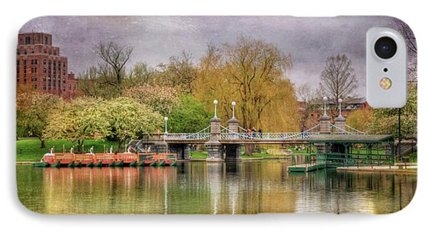 IPhone Case featuring the photograph Spring In The Boston Public Garden by Joann Vitali