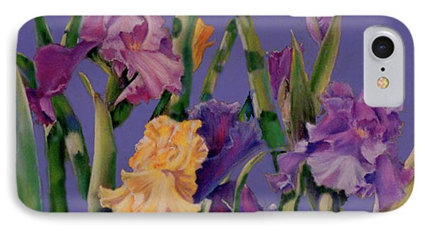 IPhone Case featuring the pastel Spring Recital by Ann Peck