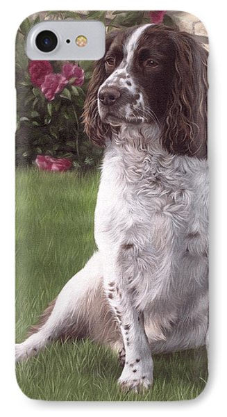 Springer Spaniel Painting IPhone Case by Rachel Stribbling