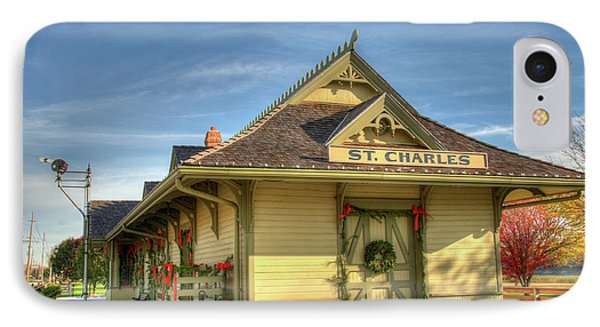 St. Charles Depot IPhone Case by Steve Stuller