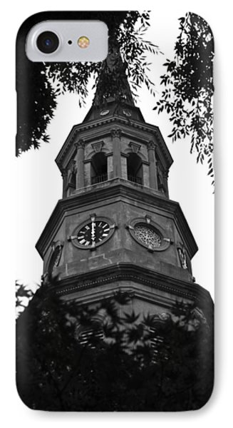 St. Philips Church Steeple IPhone Case by Dustin K Ryan