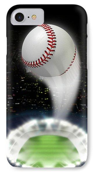 Stadium Night With Ball Swoosh IPhone Case by Allan Swart