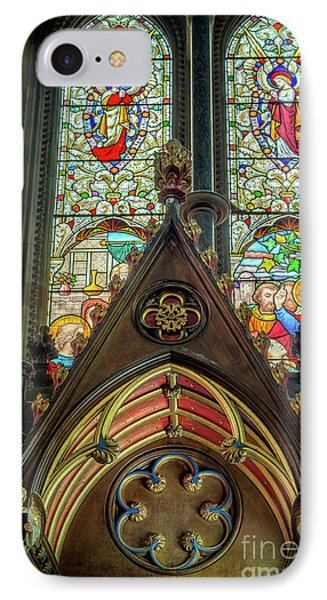 Stained Glass Window IPhone Case by Adrian Evans