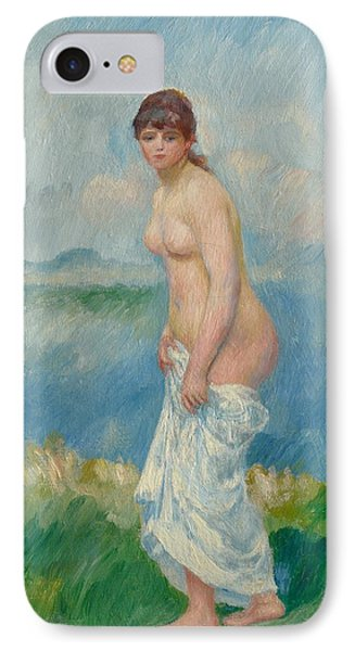 Standing Bather IPhone Case by Pierre Auguste Renoir