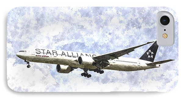 Star Alliance Boeing 777 Art IPhone Case