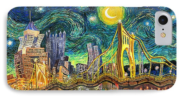 Starry Night In Pittsburgh IPhone Case