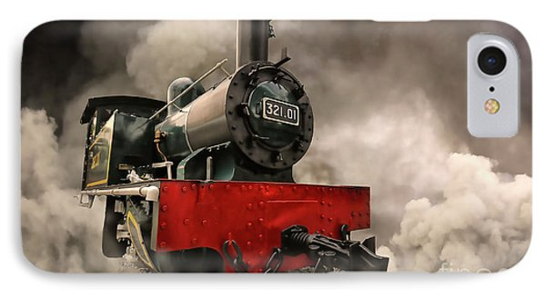 IPhone Case featuring the photograph Steam Engine by Charuhas Images