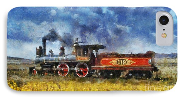 IPhone Case featuring the photograph Steam Locomotive by Ian Mitchell