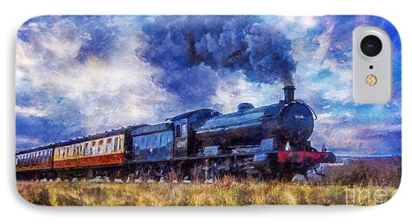 IPhone Case featuring the digital art Steam Train by Ian Mitchell