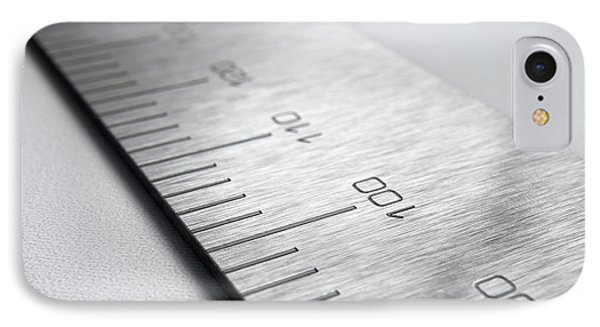 Steel Ruler Closeup IPhone Case