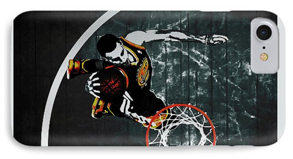 Stephen Curry In Flight IPhone Case by Brian Reaves
