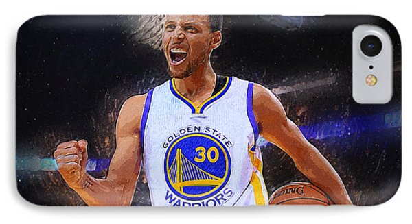 Stephen Curry IPhone 7 Case by Semih Yurdabak