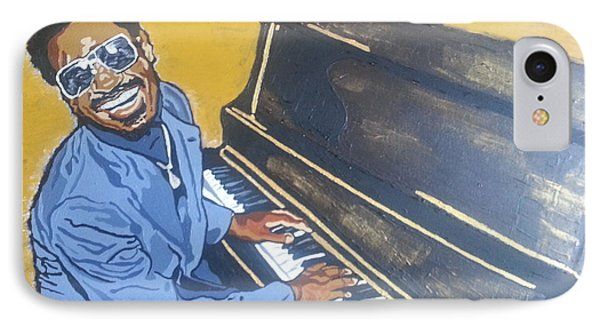 IPhone Case featuring the painting Stevie Wonder by Rachel Natalie Rawlins