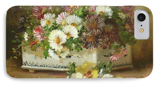 Still Life Of Flowers IPhone Case by Eugene Henri Cauchois
