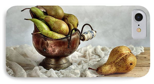 Still-life With Pears IPhone 7 Case by Nailia Schwarz