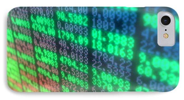 Stock Market Digital Board IPhone Case by Allan Swart
