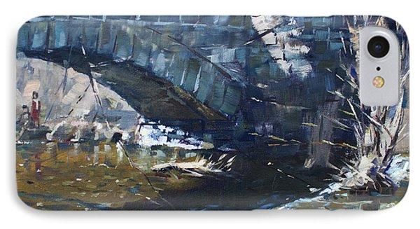 Stone Bridge At Three Sisters Islands IPhone Case by Ylli Haruni