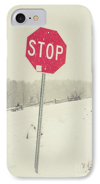 Stop IPhone Case by Edward Fielding