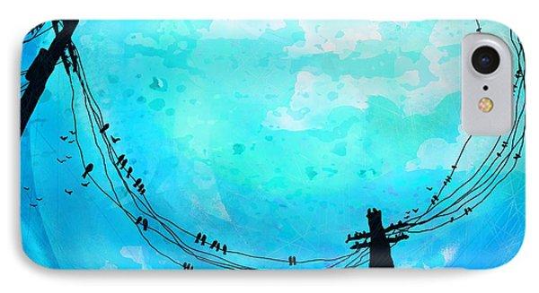 A Birds World IPhone Case by Rachel Christine Nowicki