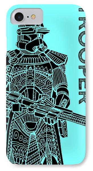 Stormtrooper - Star Wars Art - Blue IPhone Case