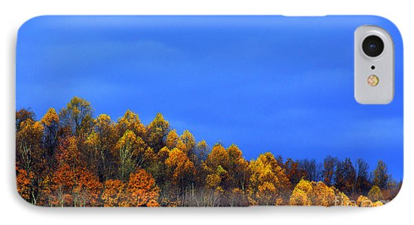 Stormy Sky Last Fall Color Phone Case by Thomas R Fletcher