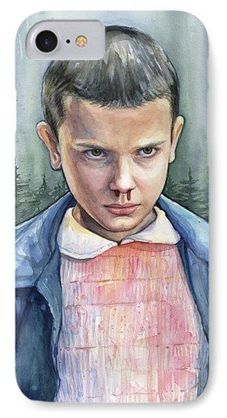 Stranger Things Eleven Portrait IPhone Case by Olga Shvartsur