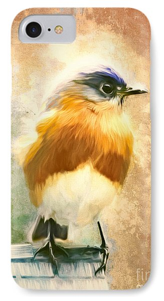 Strapping Bluebird IPhone Case by Tina LeCour