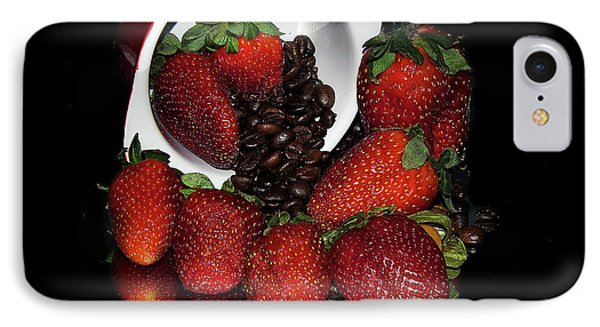 IPhone Case featuring the photograph Strawberry by Elvira Ladocki