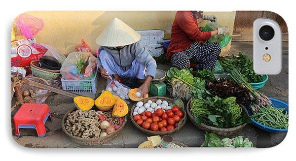 Street Merchants Hoi An IPhone Case by Chuck Kuhn